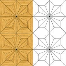 Мозаичный паркет художественный Дуб Селект М2