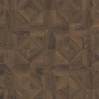Ламинат влагостойкий Quick-Step IMPRESSIVE PATTERNS Дуб кофейный брашированный IPA4145, плитка, 33 класс