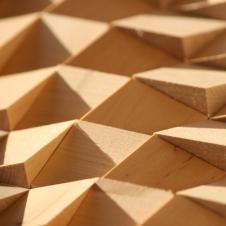 Деревянная 3Д мозаика Волна Береза
