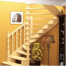 Деревянная универсальная лестница ЛЕС-03 (поворот 180°)