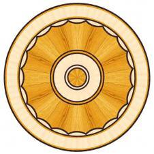 Розетка художественная паркетная R-005 клен, дуб, венге