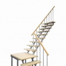Комбинированная универсальная лестница ЛЕС-05-3 (поворот 90°, h 3 м)